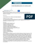 Formula Industrial Desodorante en Crema Anti Transpirante.html