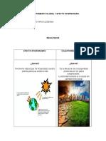 El Calentamiento Global y Efecto Invernadero