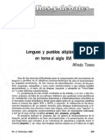 Lenguas y Pueblos Altiplánicos Al Siglo XVI. Alfredo Torero