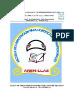 BANCO DE PREGUNTAS PARA EXÁMENES DE GRADO DE CONCEPTOS BASICOS DE TRANSITO..docx