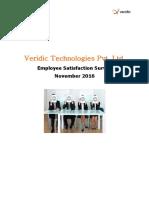Veridic Technologies Pvt Ltd Employee Survey Report for Team