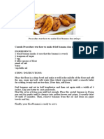Procedure Text How to Make Fried Banana Dan Artinya