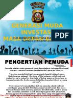 Generasi Muda Investasi Masa Depan Bangsa