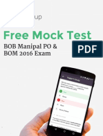 BOB Manipal PO Mock Paper 2016 1