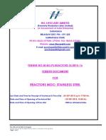 Tender Doc Nit 25 Aug 2015 Reactors Ss 15-16