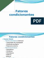 BIOGEOGRAFIA FATORES CONDICIONANTES