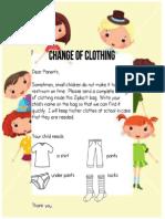 Change of Clothing