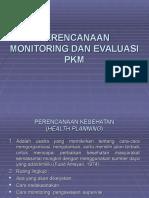 Perencanaan, Monitoring Dan Evaluasi Pkm