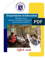 Department of Education 2016 Q&A