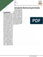 Welfare, rinnovata la ricerca in provincia - Il Corriere Adriatico del 14 dicembre 2016