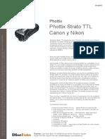 Phottix Strato TTL Canon y Nikon