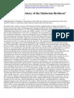 Economic History of the Hutterian Brethren
