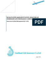 Ratio analysis and Qualitative analysis of Sandhani Life Insurance Ltd.