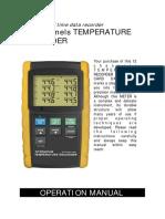 12 Channels Temperatur Recorder Pce t 1200