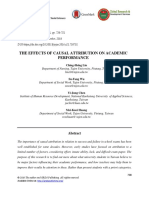 The Effects of Causal Attribution on Academic Performance