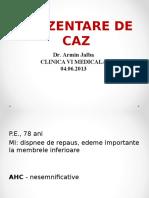 Prezentare Caz Clinic JALBA ARMIN