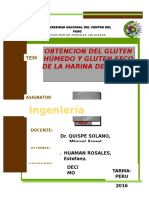 Informe de Gluten de Harina de Quinua