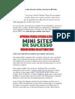 Como Construir Mini Sites Que Vendem Como Loucos