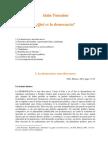 Touraine, Alain - ¿Qué es la democracia¿ [1994]