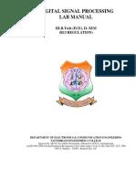 Dsp Lab Final Arrangement