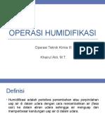 Operasi Humidifikasi