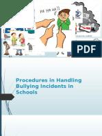 Procedures in Handling Bullying