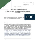 Obavezni Clanak 2 Izgradnja Vizije Vase Kompanije - Zadaci
