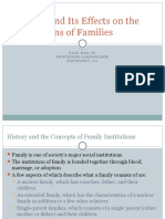 divorce and its effects on the institutions of families