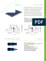 Pv Panels and Cables Subsystem