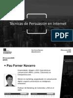 Masterclass IIMN - Venta persuasiva en internet por Pau Navarro