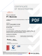 ISO PT. MULCINDO STEEL