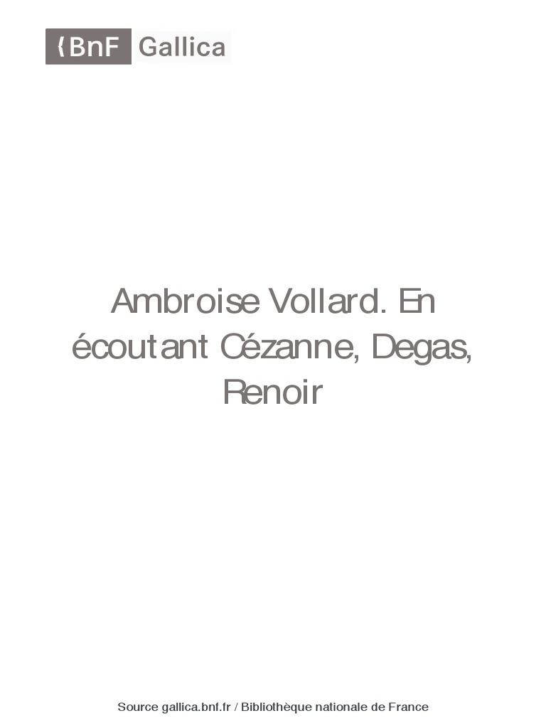 VollardEn Écoutant Bpt6k9691807q Renoir Vollard Cézanne Degas Ambroise vmgYfIyb67