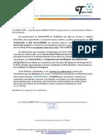 Carta IES Presentación TALENTOS Asociación Altas Capacidades Region Murcia Alumnos