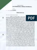 Sentencia Constantino Saavedra - Desaparicion Forzada (Sala Penal Nacional)