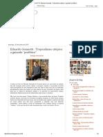 """Eduardo Giannetti _ Tropicalismo Utópico_ a Guinada """"Profética"""""""