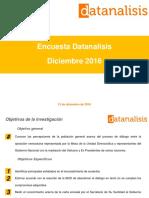 Encuesta Datanalisis opinión sobre mesa de diálogo