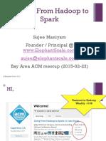Hadoop to Spark-V2