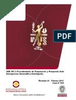 HSE 007.3 Procedimiento Preparación y Respuesta Ante Emergencias