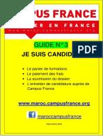 3 Guide Campus France Maroc - Le Panier de Formations - Le Paiement Des Frais- La Soumission - L'Entretien