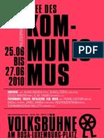 Idee des Kommunismus. Philosophie und Kunst @ Volksbühne am Berliner Rosa-Luxemburg-Platz