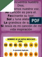 Cantando Las Notas Musicales.
