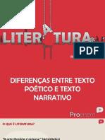 Diferenca Entre Texto Poetico e Narrativo