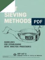 ASTM - Manual on Test Sieving Methods