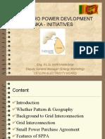 Mini Hydro Power Development in Sri Lanka Initiatives
