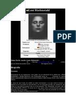 RIEFENSTAHL, LENI - Datos Bio. y Obra Fílmica I