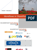 Workflows in SharePoint 2013 Peter Plessers