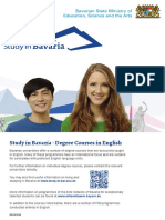 Study in Bavaria @ 050916 Degree Courses in English