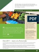 Gazette n°1 automne 2011