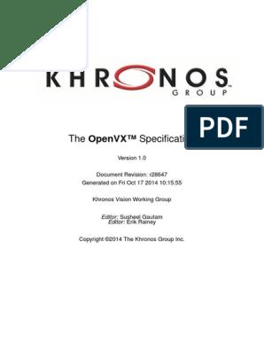 OpenVX Specification 1 0 | Parameter (Computer Programming