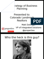 Colorado Landmark Business Planning Presentation